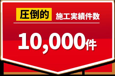 圧倒的施工実績 10,000件