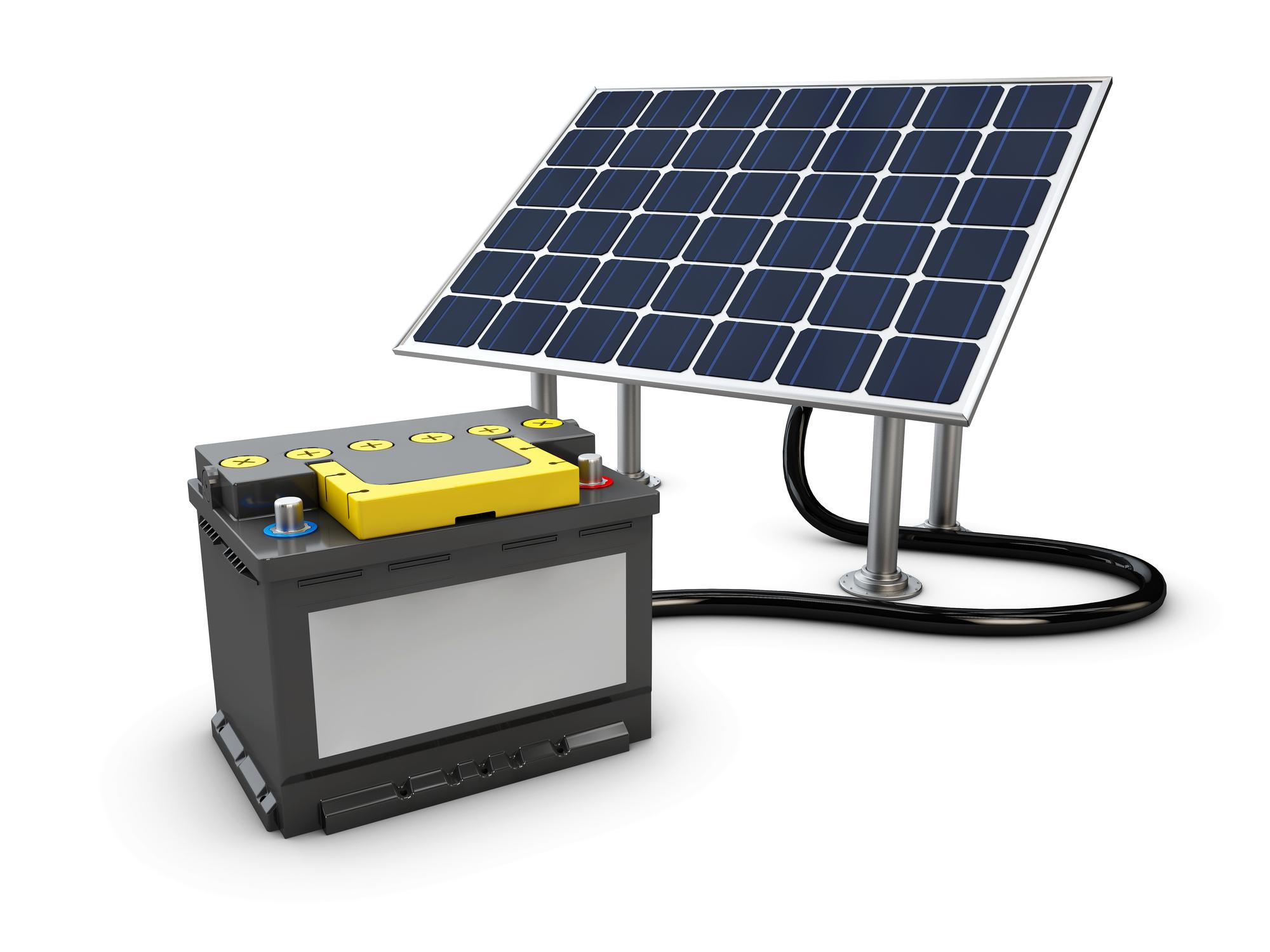 対う要項発電と蓄電池のイメージ