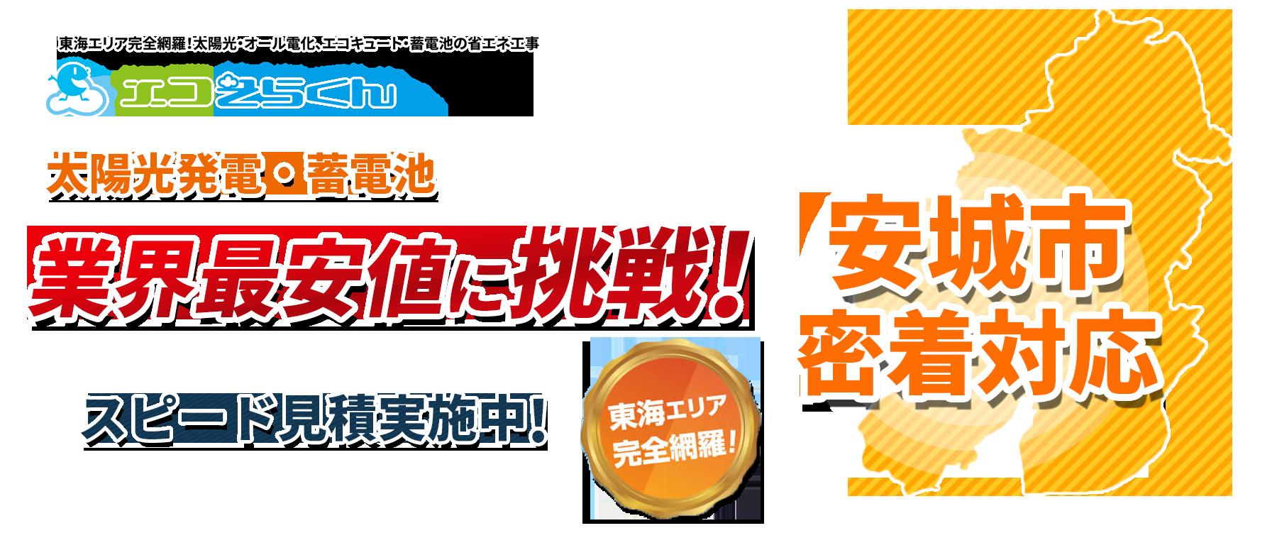 愛知県安城市密着対応!
